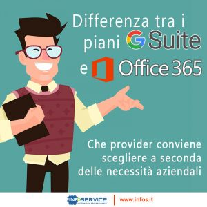 Differenza fra i piani GSuite e i piani Office 365